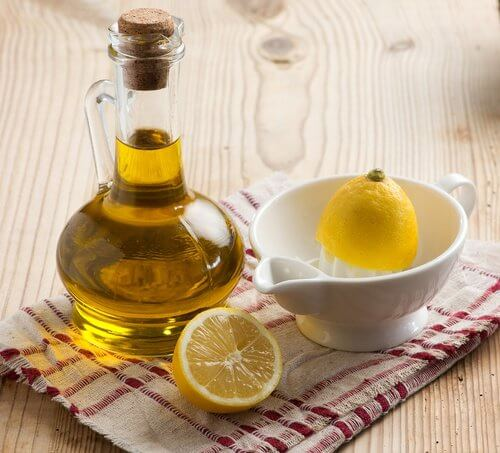 مخلوط آب لیمو و روغن زیتون