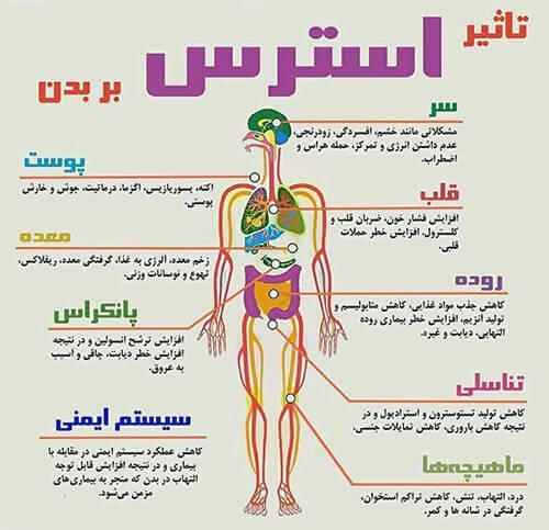 عوارض استرس بر بدن