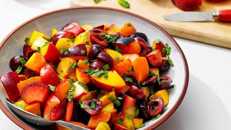 میوه و سبزیجات خرد شده