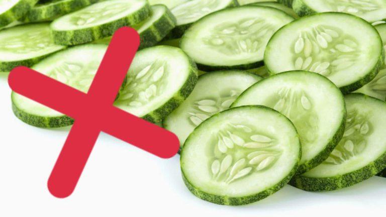 خوردن خیار برای چه افرادی مضر است ؟